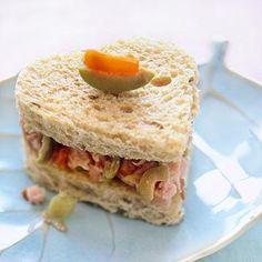 Pretty Little Tea Sandwiches with Heart