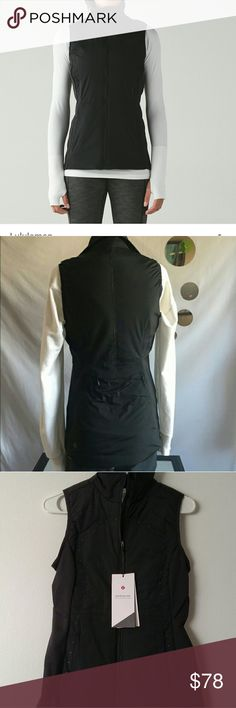 Lululemon Run for cold vest New with tags never worn run for cold vest. Lululemon size 4 lululemon athletica Jackets & Coats Vests