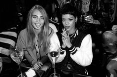 Model Cara Delevingne and Rihanna in Black & White! I love black & white photography! Are you shooting with the Lenka iPhone app? getLenka.com