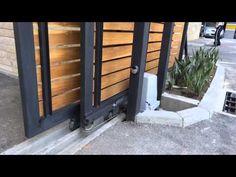 Puerta Automatica Basculante no desbordante. Puertas Cifuentes - YouTube