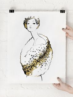 Le Glamour Art Print, Limited Edition of 75. Like the way this is displayed too.