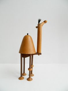 A charming mid century wooden camel, found via Etsy.
