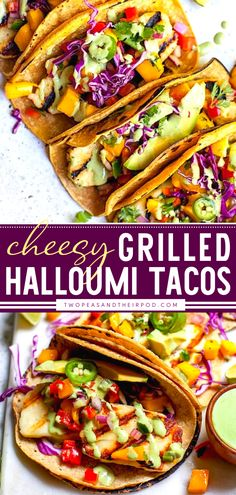 This easy Father's day dinner recipe adds a delicious twist on everyone's favorite main dish! Grilled Halloumi Tacos with Mango Salsa is quick and easy to come together, with the perfect combination of flavors, textures, and colors. Enjoy this grilling idea for dinner! Grilled Halloumi, Mango Salsa, What Is Halloumi, Tacos Menu, Main Dishes, Grilling, Vegetarian Tacos, Lime Dressing, Tex Mex