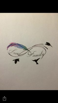 Wrist infinity tattoo #love #family #birds