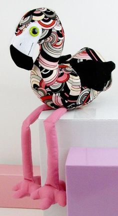 Flamingo - Top Stuffed Animal Sewing Patterns - FineCraftGuild.com                                                                                                                                                      More