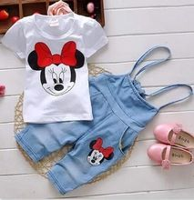 Cheap toddler girl clothing sets, Buy Quality girls clothing sets directly from China kids girl clothes Suppliers: Oklady Kids Girls Clothes Summer 2017 new Cartoon Minnie Toddler Girl Clothing Sets Suspender Pants tshirt Children Cute Baby Girl Outfits, Girls Summer Outfits, Toddler Girl Outfits, Cute Baby Clothes, Baby Girl Dresses, Baby Girls, Summer Clothes, Kids Girls, Baby Girl Fashion
