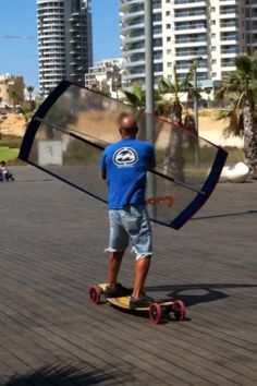 Using my new skate sail for the first time , Netania Boardwalk ,Israel New Skate, Sports Gifts, Extreme Sports, Israel, First Time, Fun Stuff, Sailing, Innovation, Kids