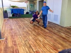 Is it real wood or concrete? . . . It's concrete! Concrete Wood Resurfacing…
