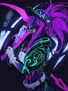Trendy wallpapers for Android & iPhone Leona League Of Legends, Akali League Of Legends, League Of Legends Characters, Anime Fantasy, Fantasy Art, Fantasy Warrior, Akali Lol, Arte Do Kawaii, Arte Cyberpunk