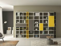 Lacquered bookcase SPEED P Speed Collection by Dall'Agnese | design Imago Design, Massimo Rosa