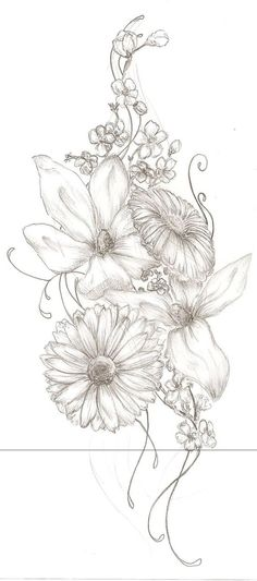 Great organic flow, good shape for the three peroneus muscles located on the lateral side of the lower leg, but replace flowers with my families birth flowers.: