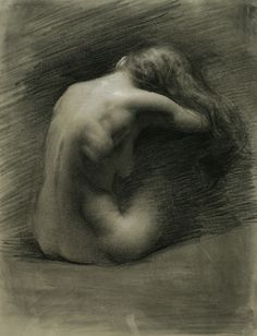 Julie (charcoal heightened with white chalk, 26×20) by Juliette Aristides