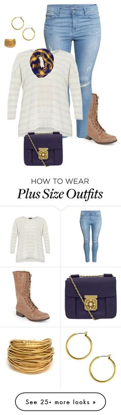 """plus size casual day out look"" by kristie-payne on Polyvore featuring Madden Girl, H&M, Dorothy Perkins, Chloé, Anne Klein and Black & Sigi"
