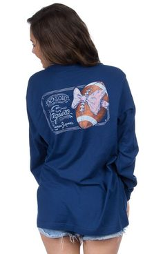 Estate Blue - EndZone Etiquette - Long Sleeve Back