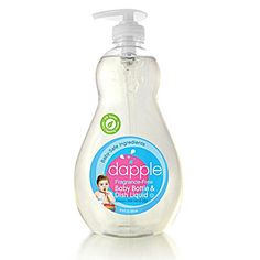 34 Fluid Of Moderate Price Fragrance Free Dish Soap Dapple Baby Bottle And Dish Liquid Refill