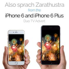 Preview and download Also sprach Zarathustra (From the iPhone 6 and iPhone 6 Plus Duo TV advert). The advert on TV features Justin Timberlake and Jimmy Fallon.