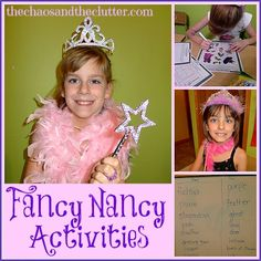 Fancy Nancy activities and of course, #dressup! #bookstobed Inspiration