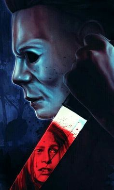 Michael Myers And Lori Strode. Michael Myers, Horror Icons, Horror Films, Cult Movies, Scary Movies, Halloween Film, Slasher Movies, Horror Artwork, Cinema