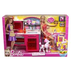 2011 Barbie Stovetop to Tabletop - playset dolls Barbie 2000, Mattel Barbie, Barbie And Ken, Barbie Dolls, Baby Play House, Barbie Kitchen Set, Barbie Celebrity, Barbie Playsets, Modern Toys