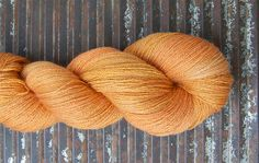 BFL/Silk Superwash Lace -BLOOMSBURY...OOAK burnt orange by Kettle Yarn Co.