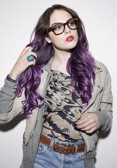 Purple ombre pastel hair