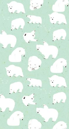 Momoro illustration : photo pattern & illustration animals ф Polar Bear Illustration, Pattern Illustration, Digital Illustration, Aesthetic Iphone Wallpaper, Aesthetic Wallpapers, Cute Wallpapers, Wallpaper Backgrounds, Polar Bear Wallpaper, Motifs Animal