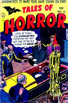 Comic Book Cover For Tales of Horror #12