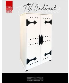An inexpensive way to dress up you existing T. Cabinet using Kram Designs Decorative Hardware. Cabinet Decor, Lockers, Locker Storage, Hardware, Dress, Furniture, Design, Home Decor, Dresses