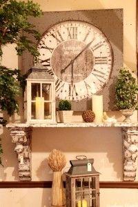 mantel -- love BIG clocks
