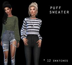 Puff Sweater at Leo Sims • Sims 4 Updates