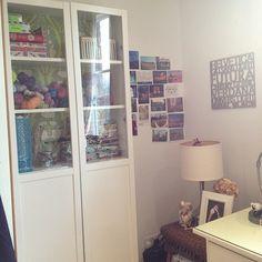 My new office corner! #knitting #yarn #crafts #office