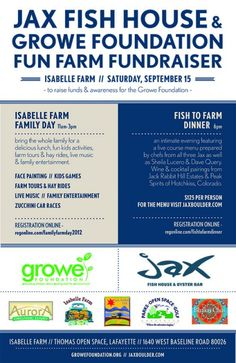 Fun Farm Fundraiser.Isabelle Farm. September 15, 11am-3pm & 6pm.