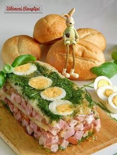 Mary Berry, Hungarian Recipes, Easter Crafts, Catering, Sushi, Bacon, Food And Drink, Meat, Cooking