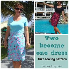 Two Become One – free t-shirt dress pattern