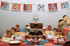 Cowboys and Cookies Birthday Dessert Table