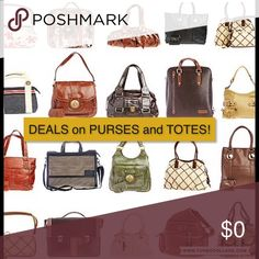 Deals on Purses & Totes Adding lots of purses to my closet! Bags