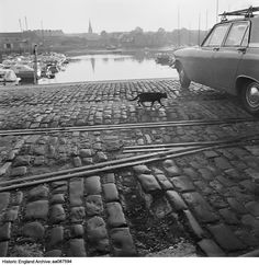 AA087594  Sutton Harbour, Plymouth.  For more information or to search our collections please click on the image. Historical Images, Plymouth, Railroad Tracks, England, Collections, Search, Searching, English, Train Tracks