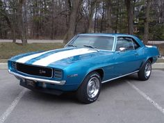 1969 Chevrolet Camaro Z28/RS. The exact car I WILL own one day. Just hopefully in black....or silver.