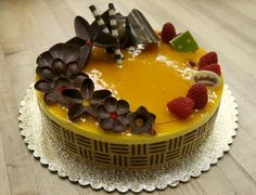 A Mango Mousse cake at Schubert's Bakery on Clement Street in S.F. Photo: Paul Chinn, The Chronicle