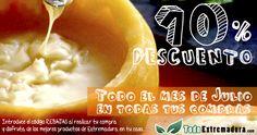 Así da gusto consumir productos de la tierra: queso, ibéricos, vinos, cerezas... con un 10% de descuento en www.todoextremadura.com