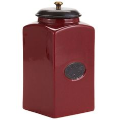 Red Chadwick Kitchen Canister - Medium