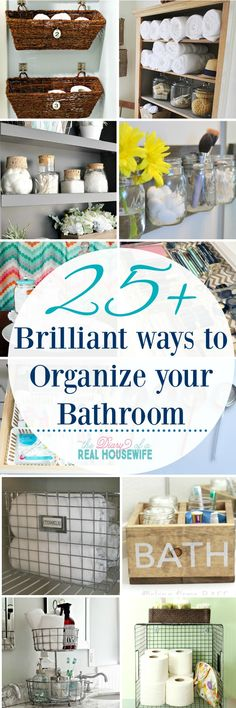 over 25 awesome ways to organize your bathroom
