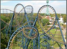 vortex @ kings island in ohio is a fun steel roller coaster with six inversions.