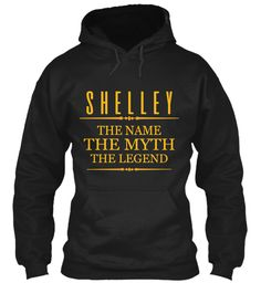 Shelley The Name The Legend Black Sweatshirt Front