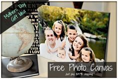 free photo canvas FREE PHOTO CANVAS ~ VALENTINES GIFT OR MOTHERS DAY GIFT IDEA (JUST PAY S&H)