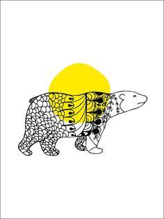 Polarbear print, Formation Norrland! #art #print #norrbotten #sweden