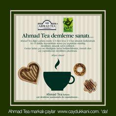 Ahmad Tea çay nasıl demlenir? İşte cevabı...
