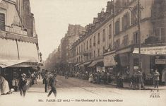 this is right around where we stayed in paris!  #photo Rue Oberkampf à la rue Saint-Maur vers 1900 #PEAV #Paris11 @Menilmuche @RostatAlberto @souvienstdparis