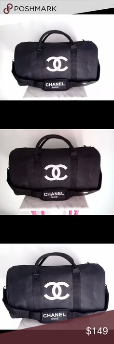 Chanel vip gift bag travel bag gym bag duffle bag Authentic Chanel vip gift bag travel bag gym bag duffle bag . Material: nylon . vip promotional gift form Asia. Brand new with original packaging. Size: L 48cm x W 32cm. CHANEL Bags Travel Bags