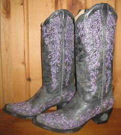 Rivertrail Mercantile - Corral Black Crater Purple Boots A1095 , $210.00 (http://www.rivertrailmercantile.com/corral-black-crater-purple-boots-a1095/)